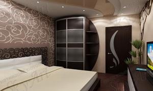Натяжной потолок в спальной
