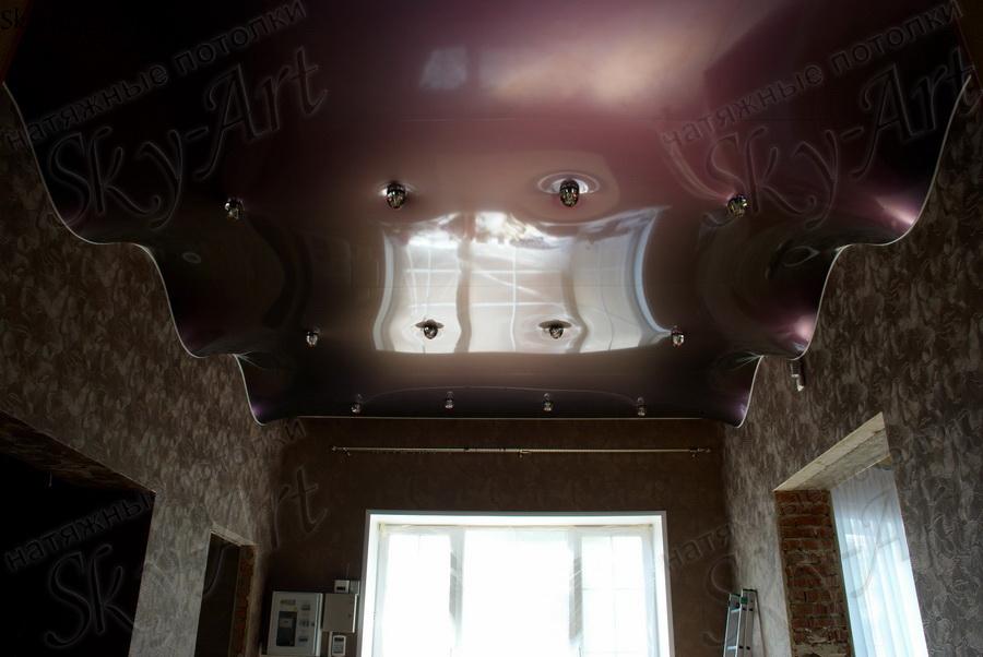 Как сделать натяжные потолки волной